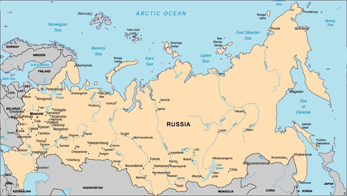 karta rusije Grad u Rusiji plan grada, karta Rusije (Istočna Europa   Europa) karta rusije