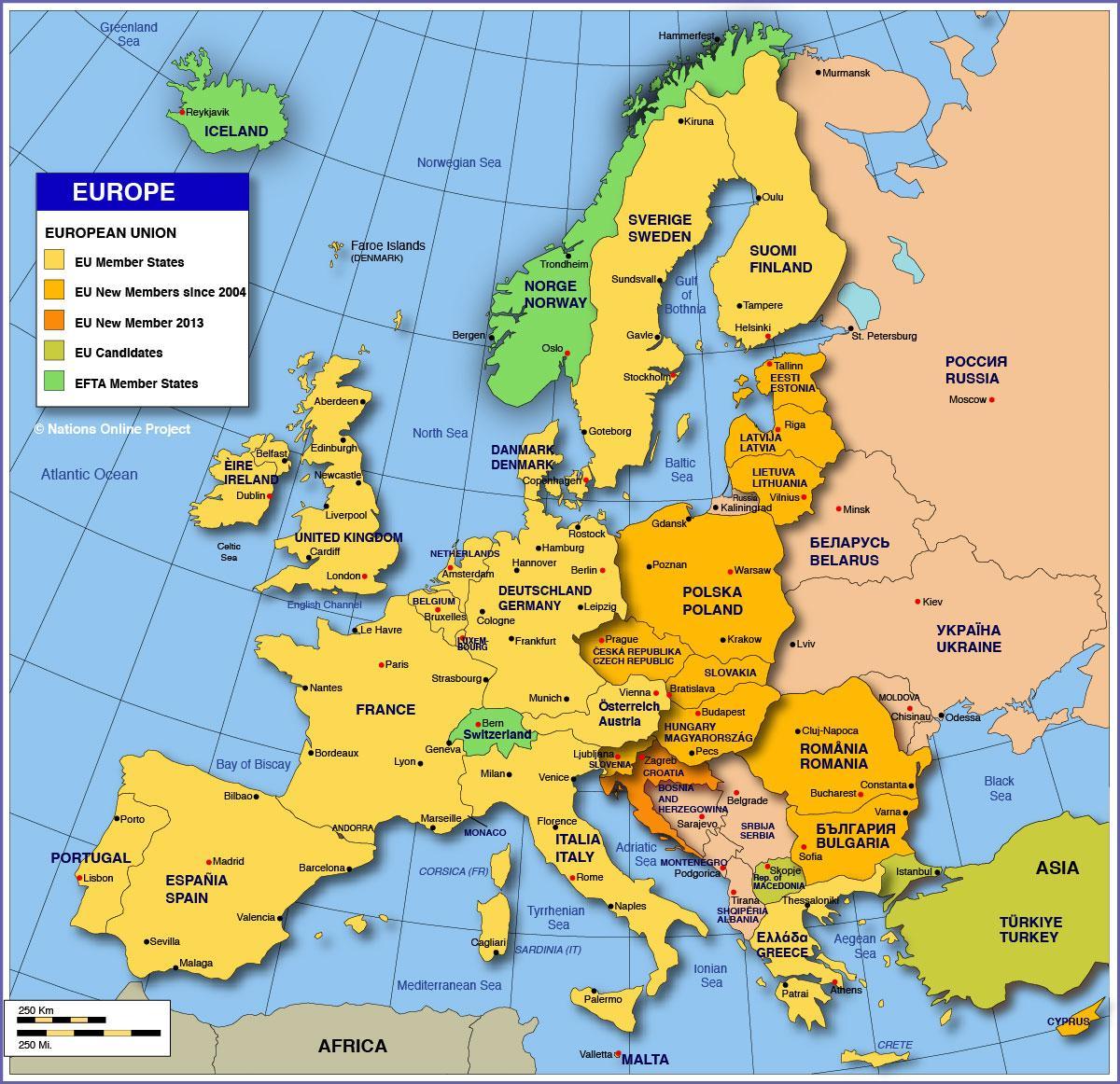 Rusiji Karta Evrope Karta Rusija Europa Istocna Europa Europa