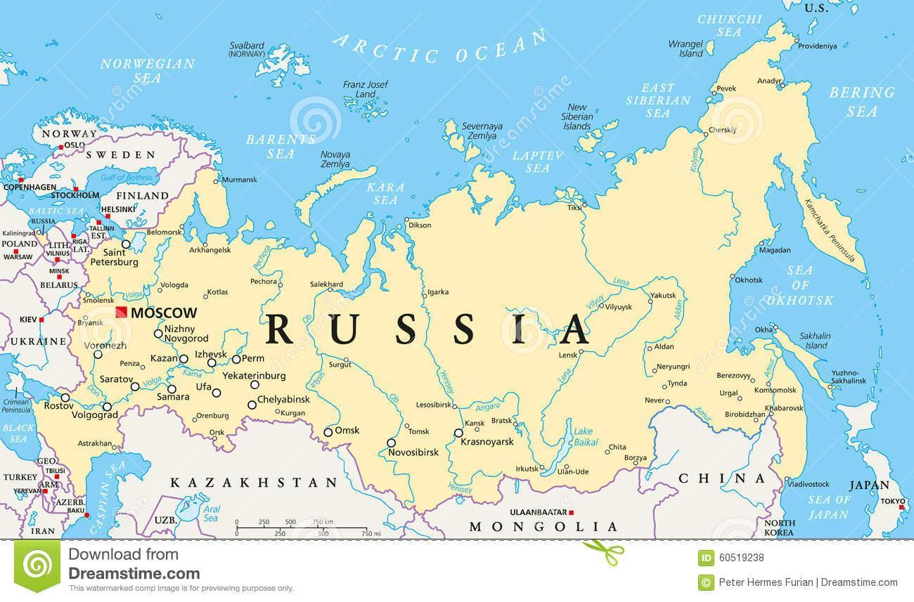 karta rusije Ruske političke karte   karta Rusije politička (Istočna Europa  karta rusije