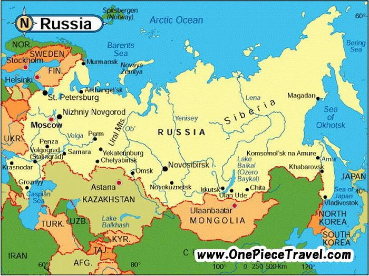 karta rusije Rusiji turistička karta   Turistička karta Rusije (Istočna Europa  karta rusije